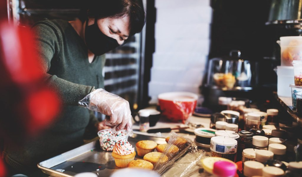 Heng Woon and the team at Common Ground Coffee & Cupcakes make sweets from scratch daily.