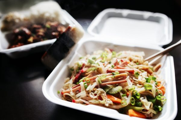 Fresh takeout meal from Saimin Says in Renton, WA.